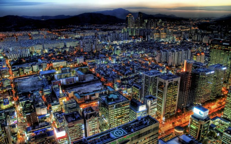 Hdr photography cities wallpaper