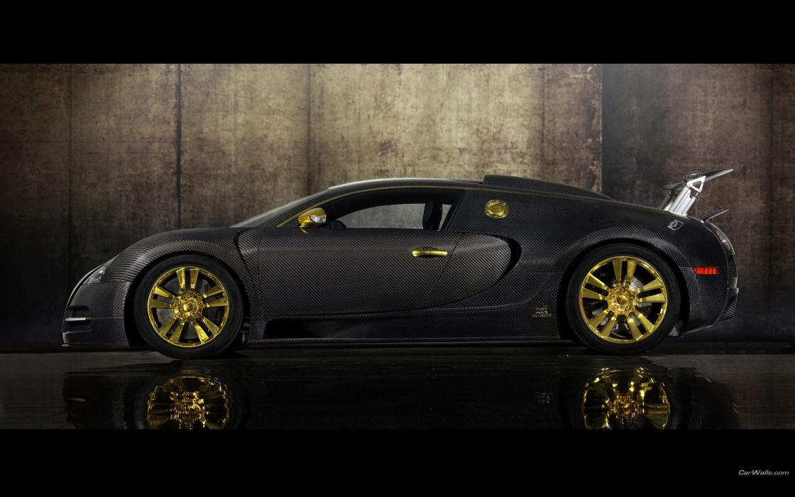 Cars bugatti veyron mansory black cars wallpaper