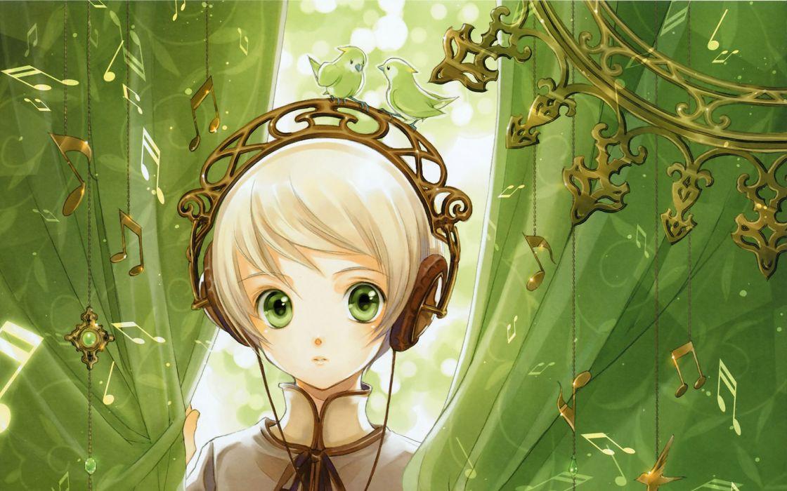 Headphones girl wallpaper