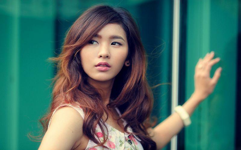 Green women close-up japan eyes models japanese long hair people celebrity brown eyes chinese asians faces japanese women chinese girls wallpaper