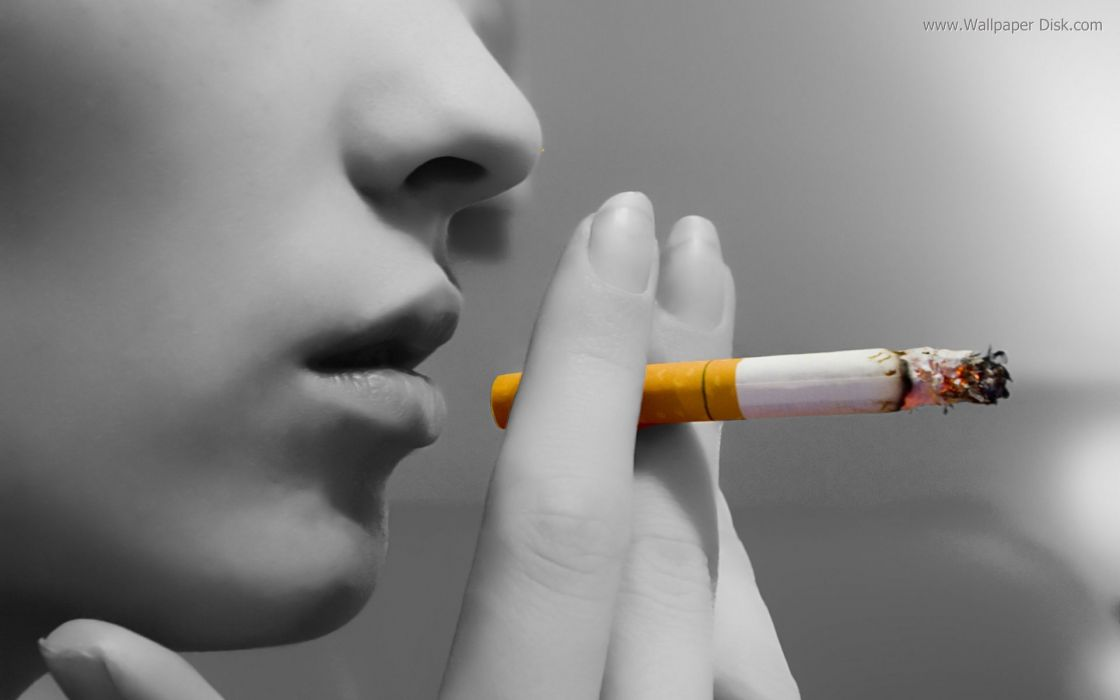 Smoke grayscale singers selective coloring cigarettes wallpaper