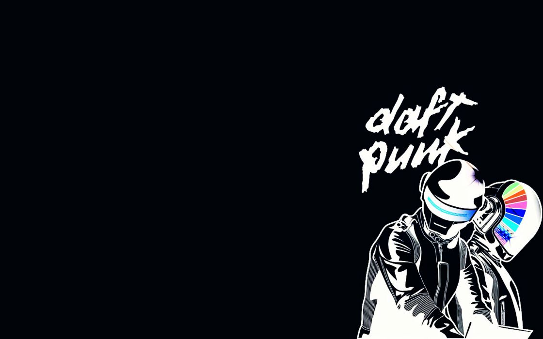 Daft punk black background wallpaper