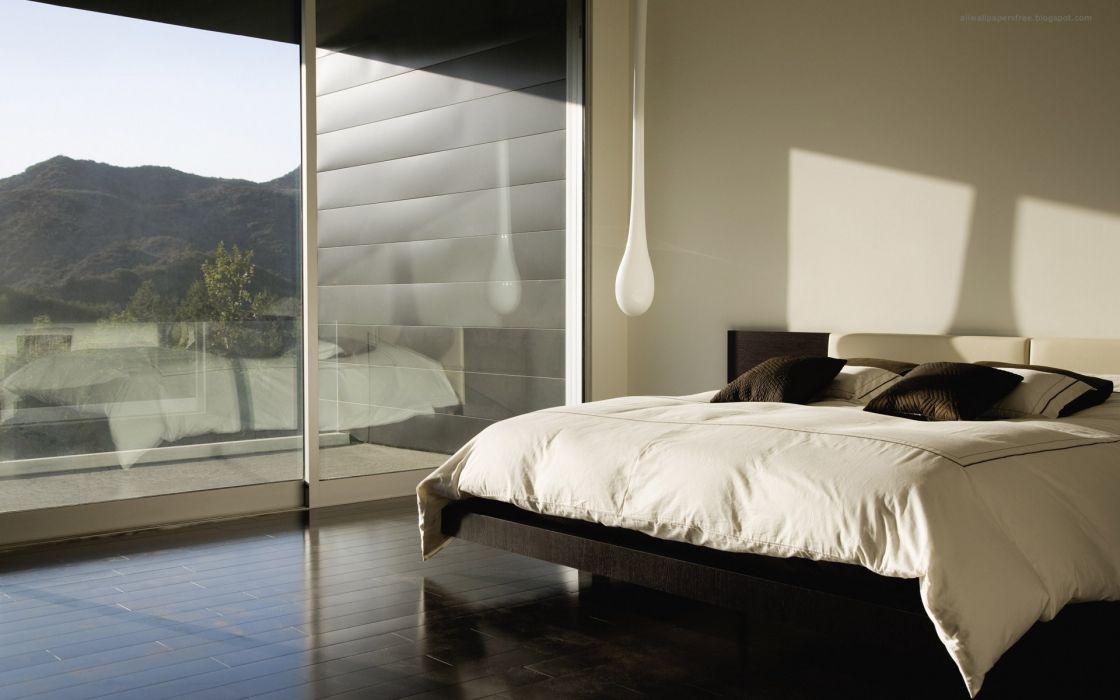 Beds window panes wallpaper