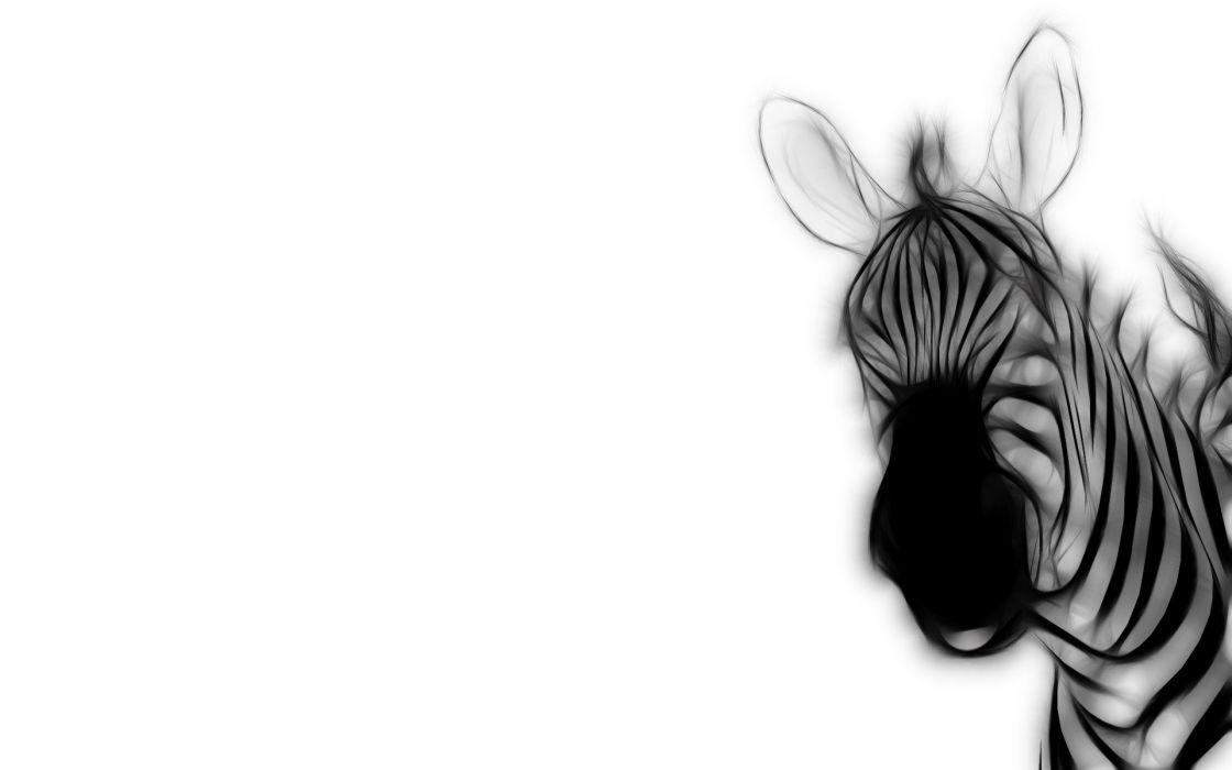 Fractalius zebras wallpaper