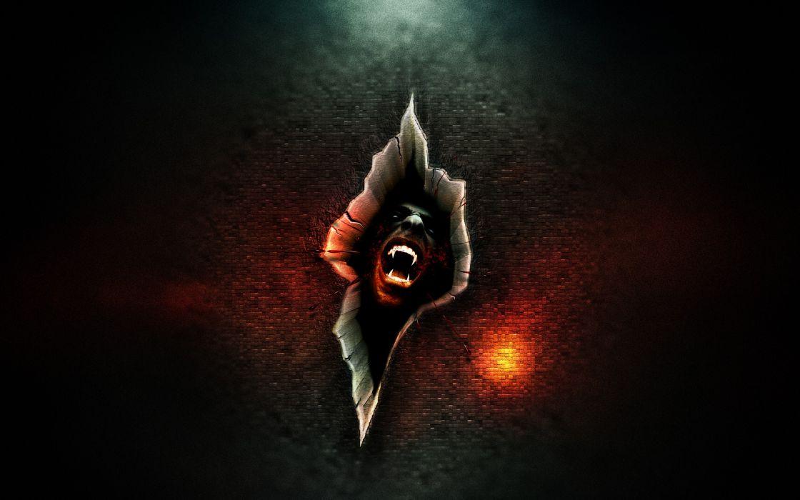 Red wall rapture vampires tear wallpaper