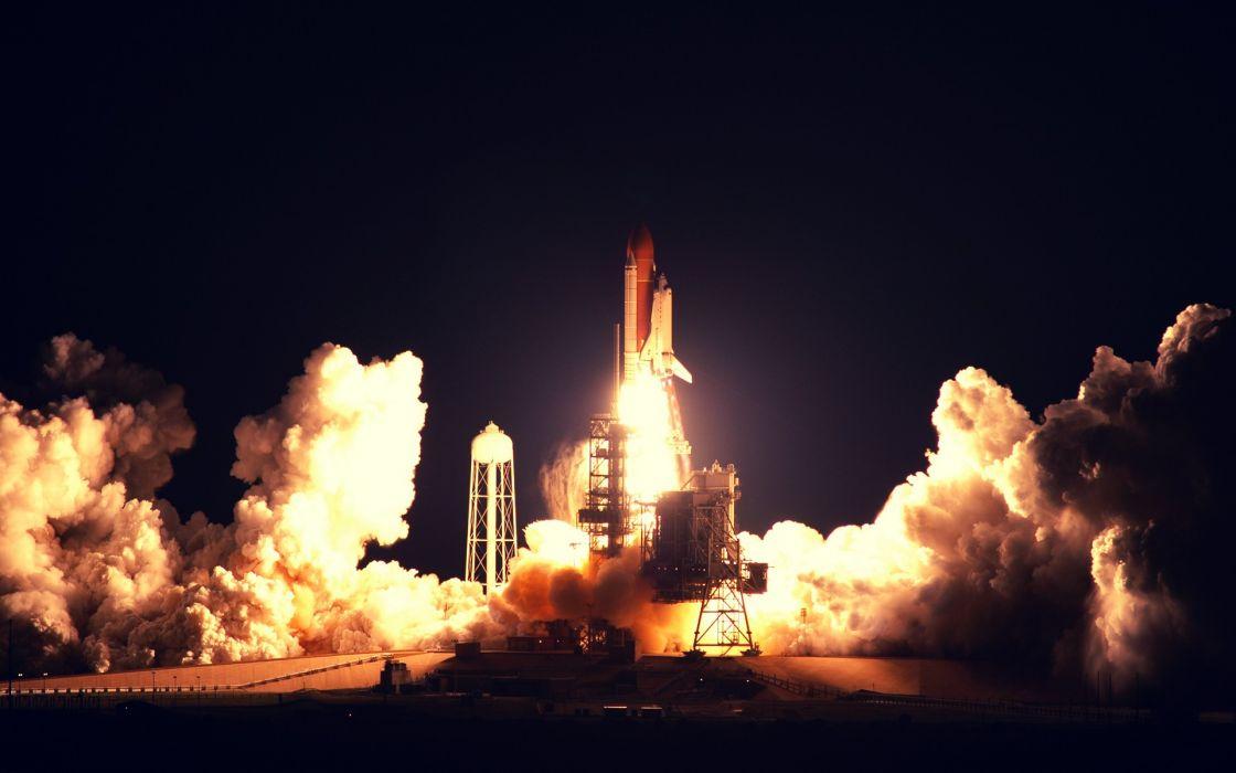 Space shuttle launch wallpaper