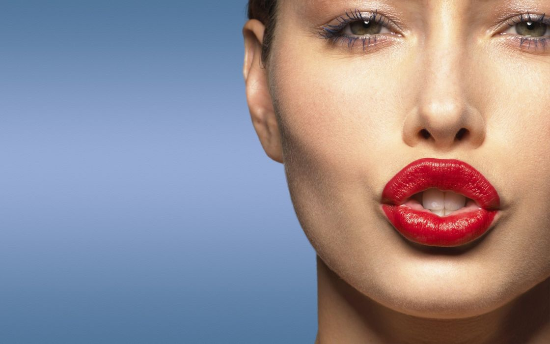 Women models jessica biel lipstick wallpaper