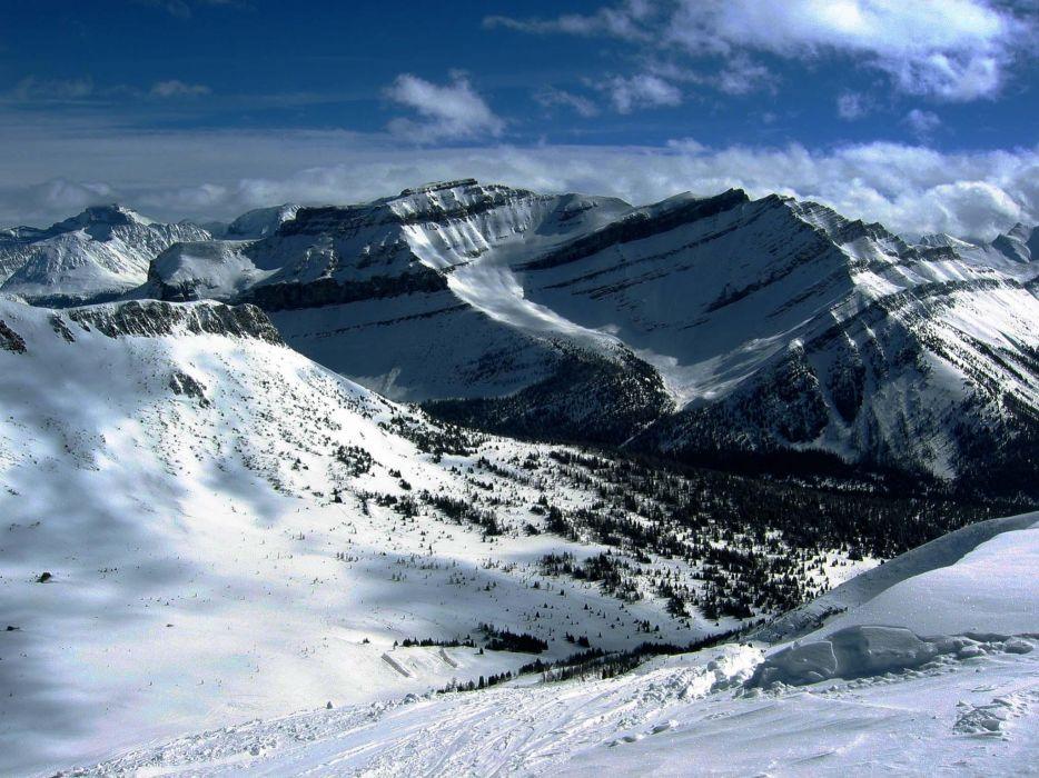 Mountains nature snow glacier wallpaper