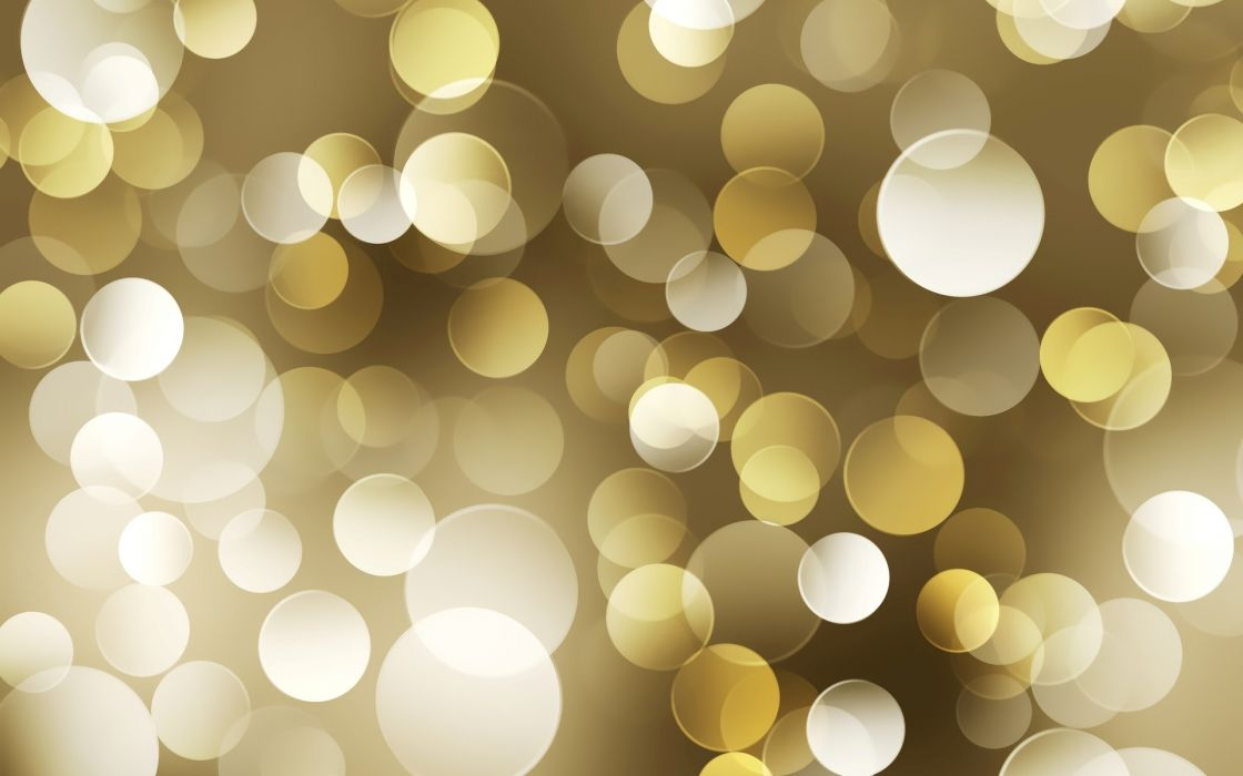 Abstract multicolor gold bokeh dots wallpaper