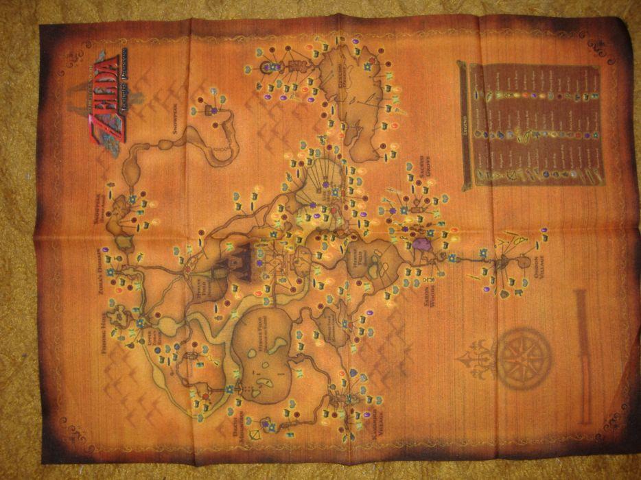 The legend of zelda maps wallpaper