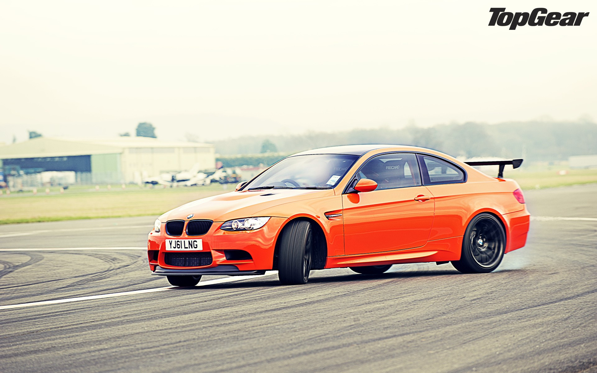 Top gear orange drifting cars track bmw m3 bmw m3 gts m3 gts