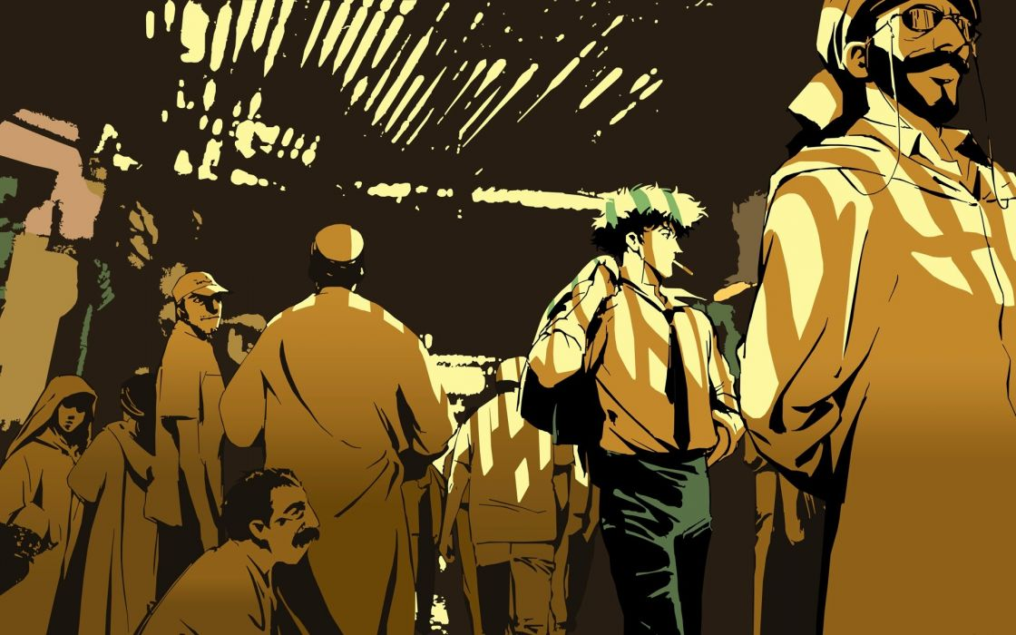 Cowboy Bebop Spike Spiegel People Crowd Travel Wallpaper