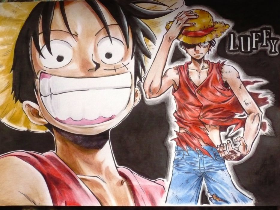 One piece (anime) monkey d luffy wallpaper
