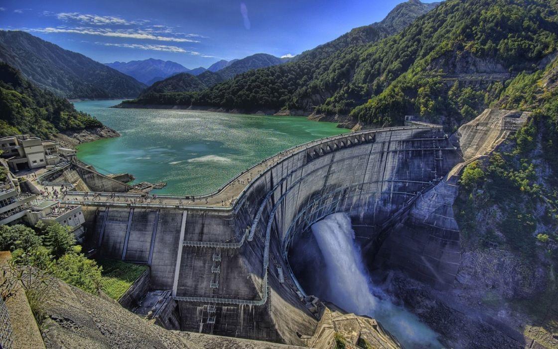 Water dam wallpaper