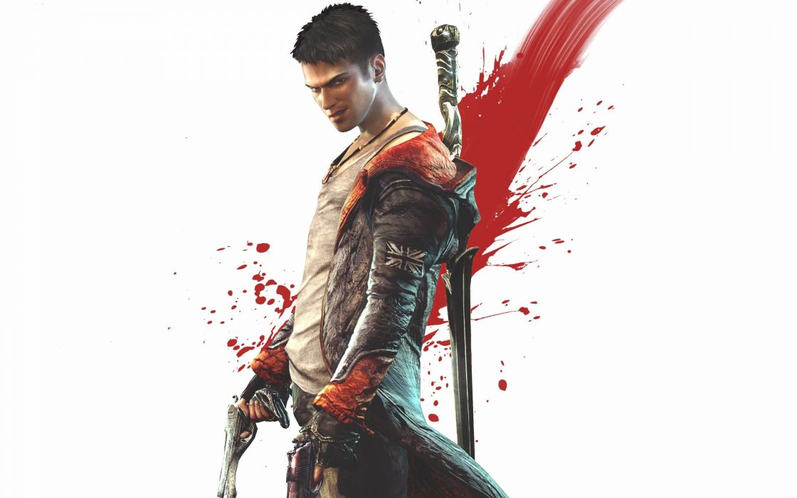 Guns men devil may cry dante artwork swords wallpaper