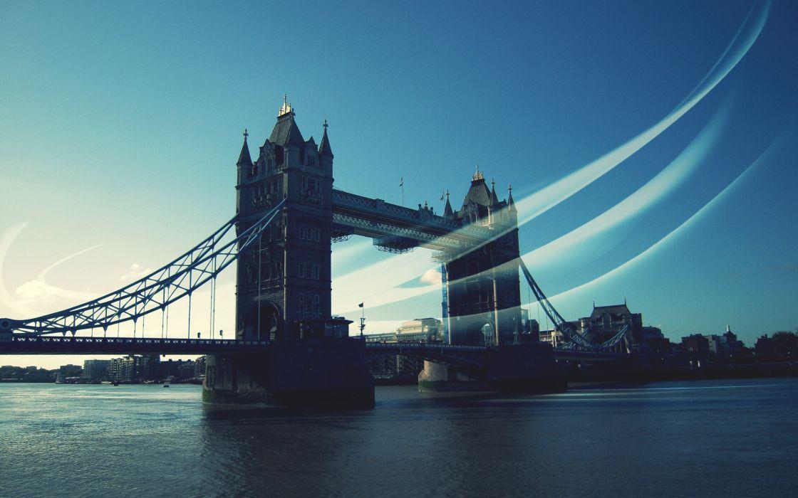 Britain london bridges united kingdom british rivers wallpaper