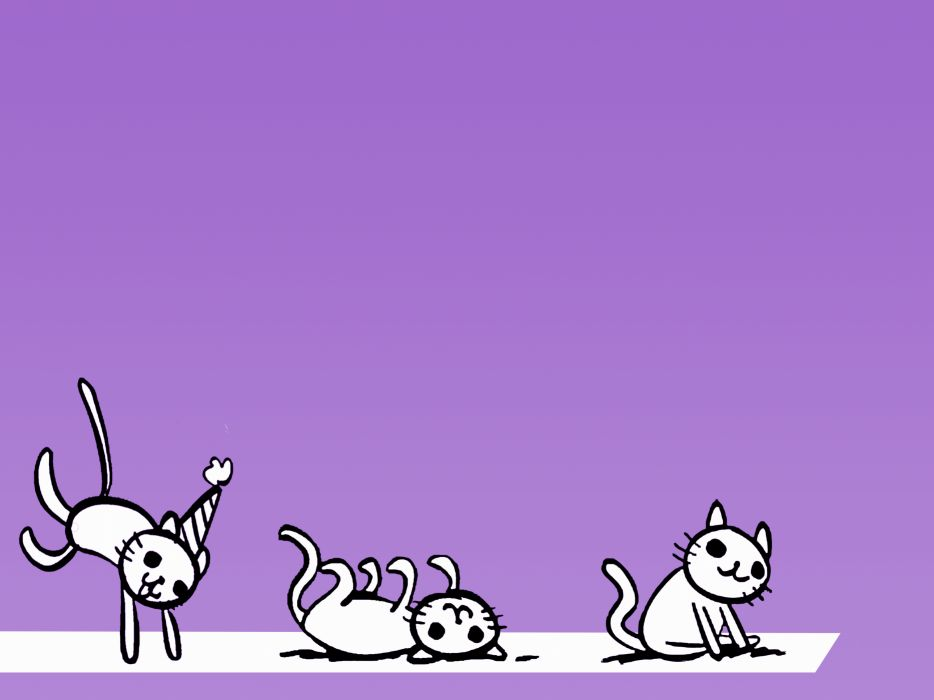 Cats purple roll party wallpaper