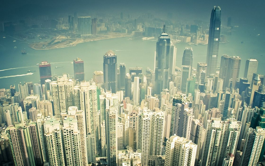 Cityscapes architecture urban buildings skyscrapers kong cities wallpaper