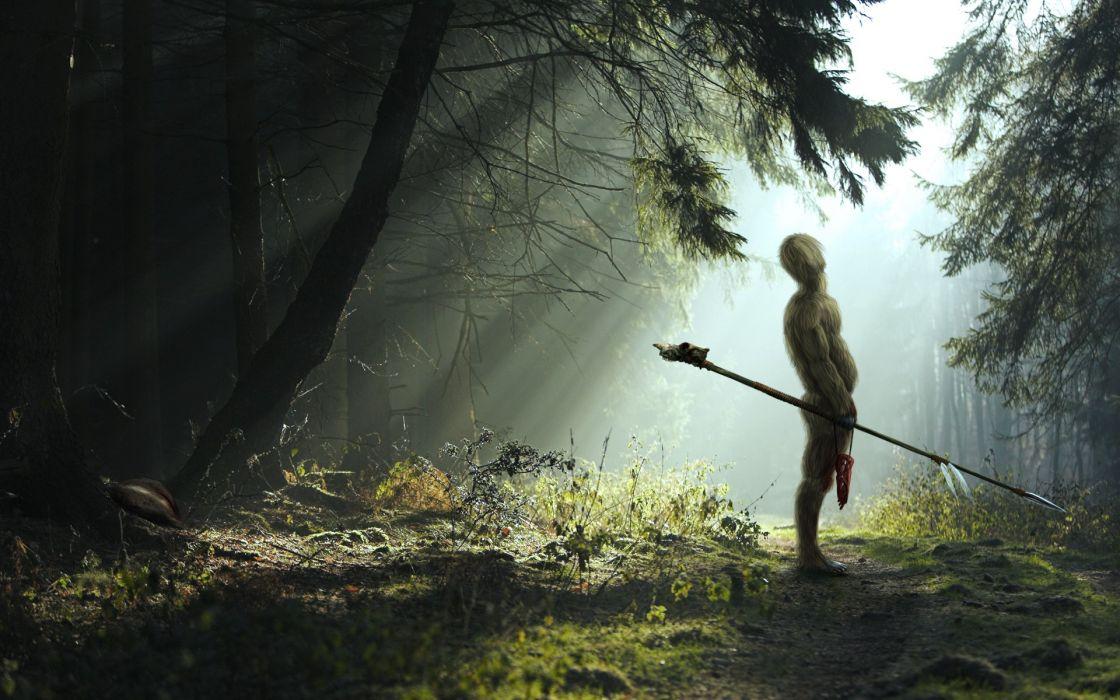 fantasy landscapes nature trees cg digital-art manipulations renders wallpaper