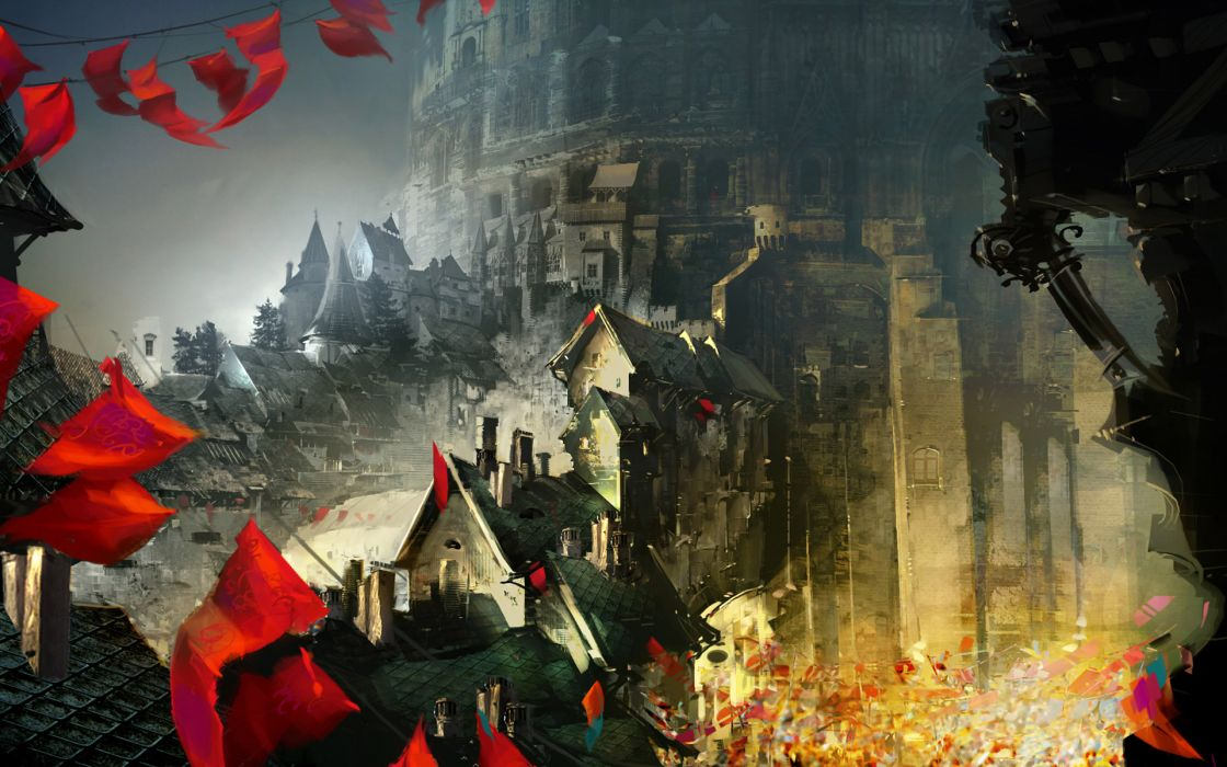 Guild-Wars Guild Wars Screenshots games entertainment fantasy cities castles wallpaper
