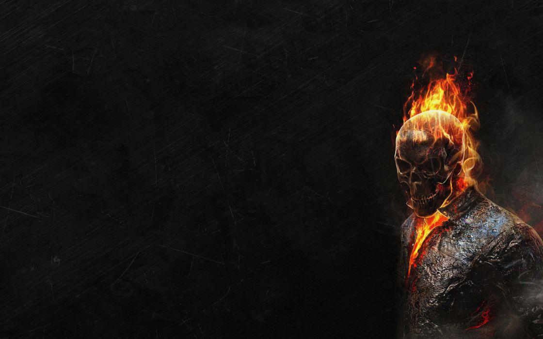 Ghost-rider rider movies comics games video-games dark skulls wallpaper