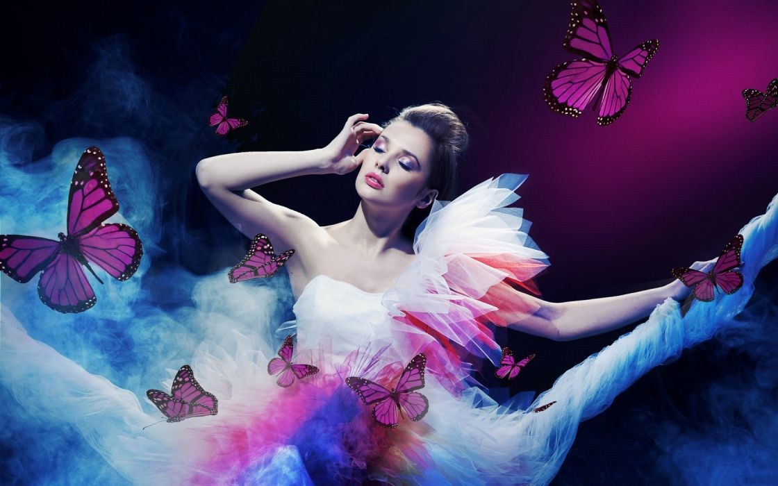 conrado other-females women girls models fashion style mood butterflies animals  wallpaper