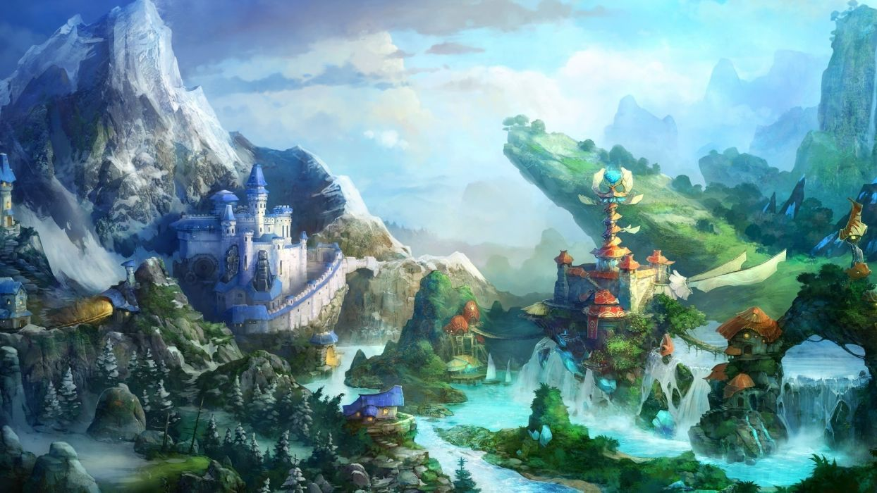 prime-world games video-games online-games fantasy cities landscapes wallpaper