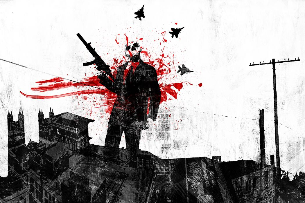 f4lc0n-6_deviantart_com political dark anarchy skulls war blood cities weapons hyorror macabre wallpaper