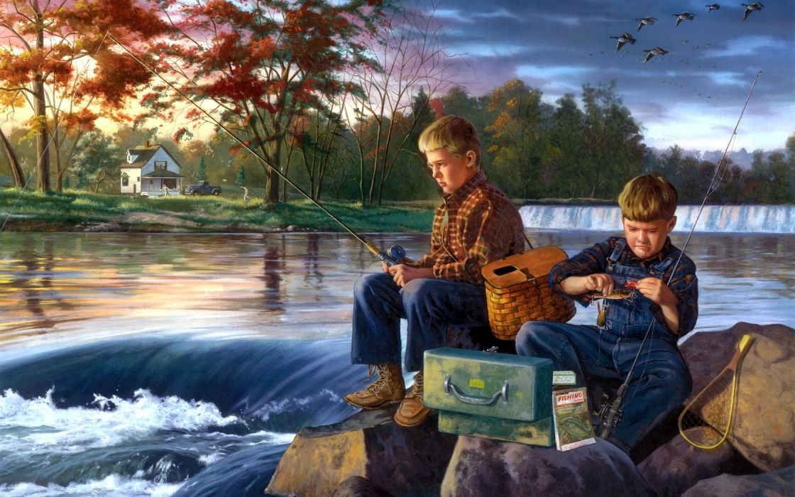 Charles-Freitag www_freitagart_com abstract paintings artistic people children autumn fall seasons cute nature wallpaper