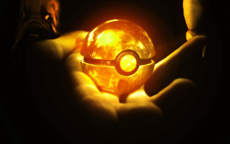 anime spheres pokemon globes bright lights people hands glowing fantasy wallpaper