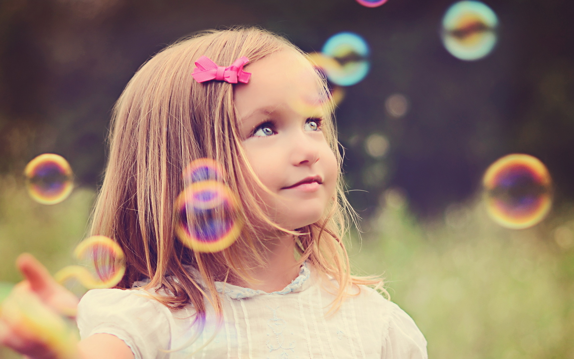 People Photography Children Bubbles Mood Cute Wallpaper