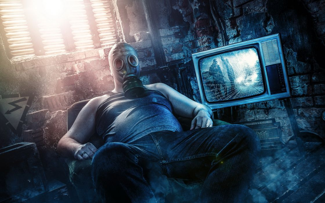 games entertainment video-games dark gas-mask masks spooky creepy wallpaper