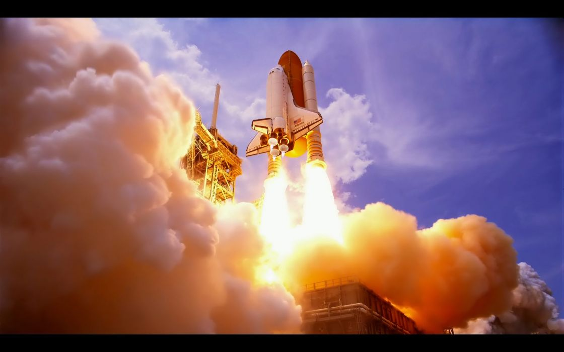 space-shuttle spaceships spacecrafts rockets nasa fire flames sci-fi wallpaper