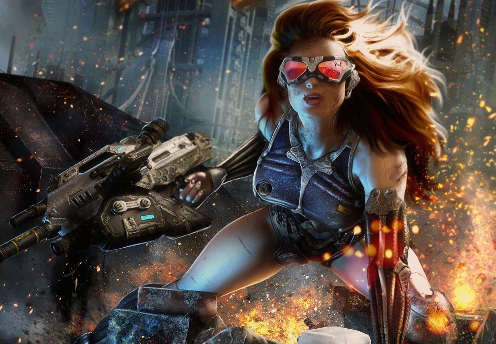 entertainment crysis video-games games women warriors soldiers wallpaper