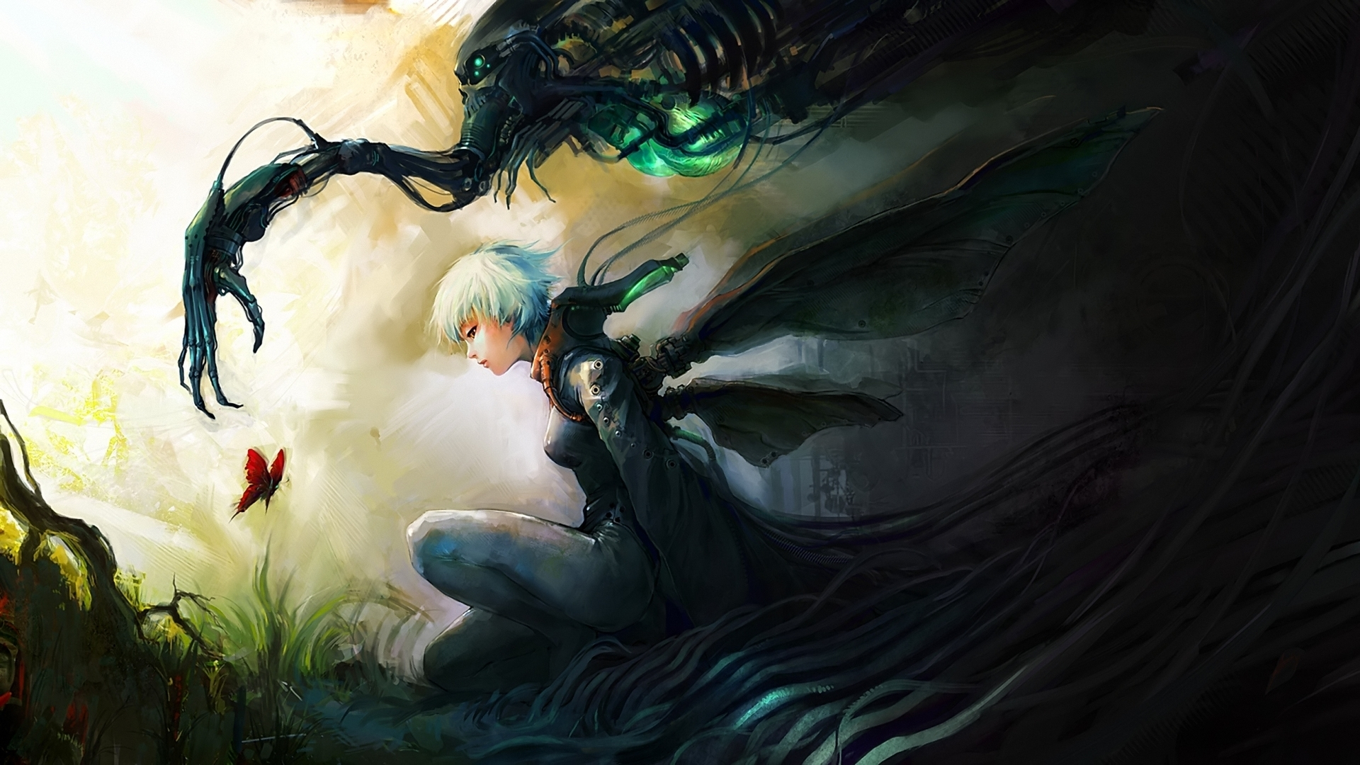 Asuka111 Deviantart Com Paintings Airbrushing Anime Fantasy Cg Digital Art Wallpaper