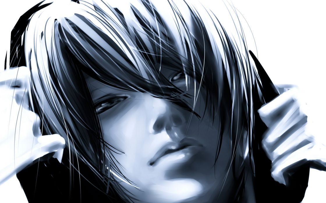 Daomu Kylin-Zhang Monochrome anime males boys music headphones entertainment wallpaper