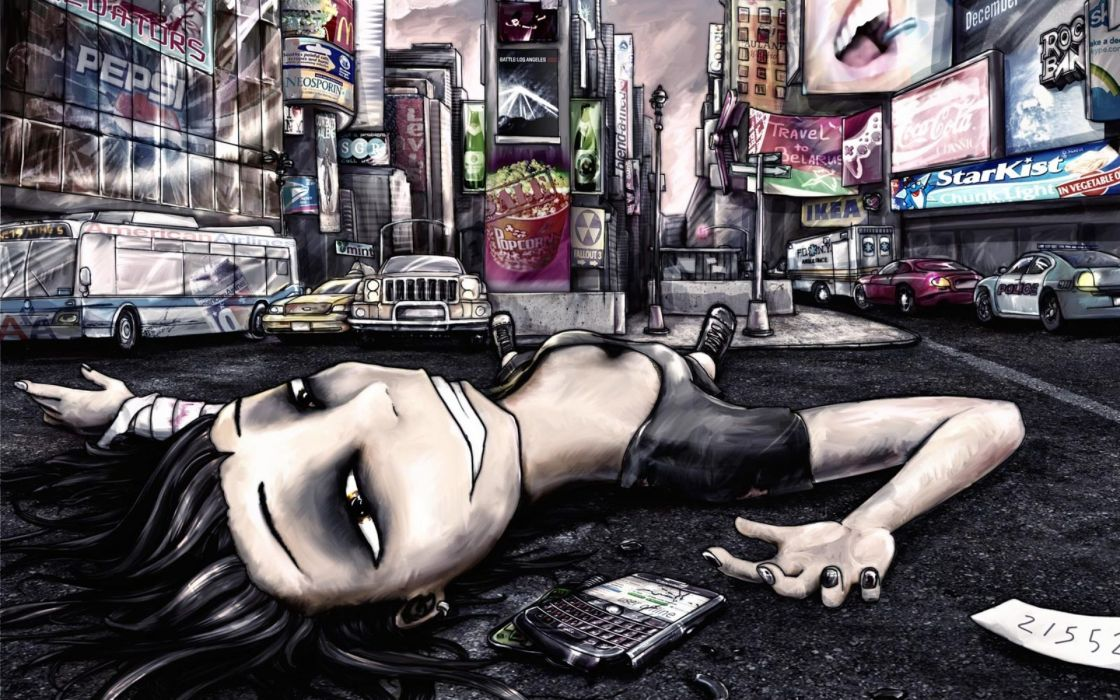 Emo dark women females girls artistic situations mood cities architecture buildings sadness sorrow wallpaper