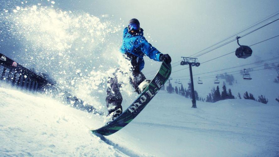 seasons winter snow snowboarding wallpaper
