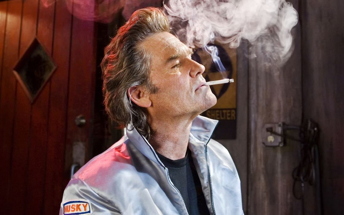 death-proof movies entertainment Kurt-Russell Cigarettes Smoking people men males wallpaper