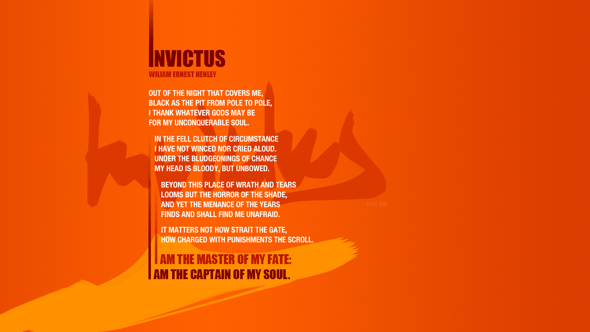 The gallery for --> Invictus Wallpaper