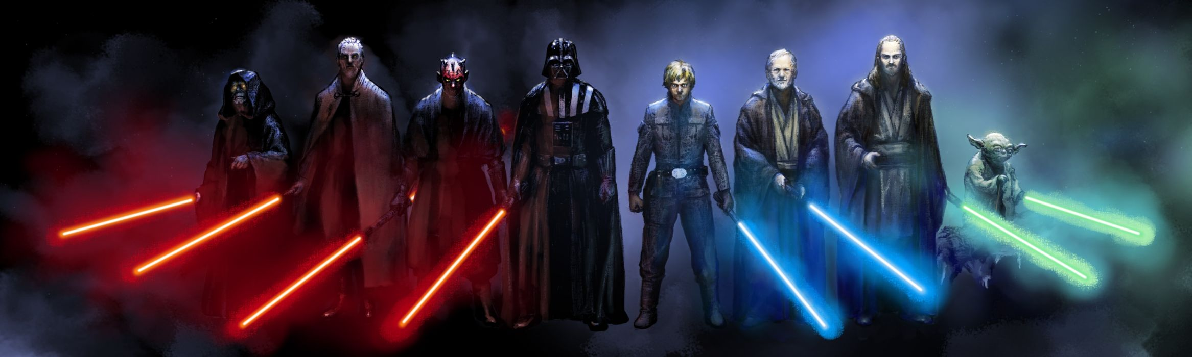 Star-Wars sci-fi science-fiction jedi lightsabers weapons entertainment movies games video-games wallpaper