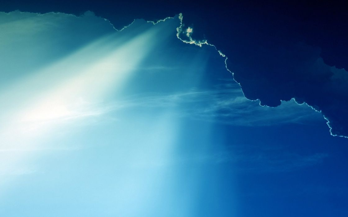 Blue clouds landscapes nature sunlight skyscapes wallpaper
