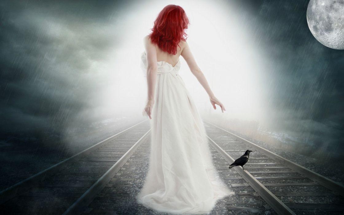 fantasy gothic magical manipulations cg digital-art moons mood gowns women females girls sensual artistic wallpaper