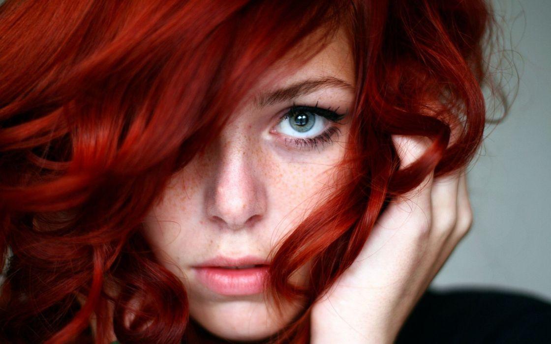 women females girls faces redheads eyes sensual wallpaper
