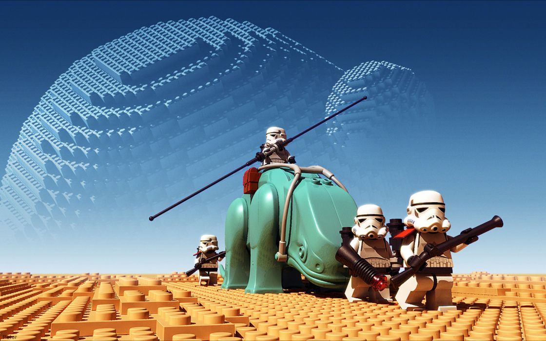 star-wars legos toys humor funny planets sci-fi wallpaper