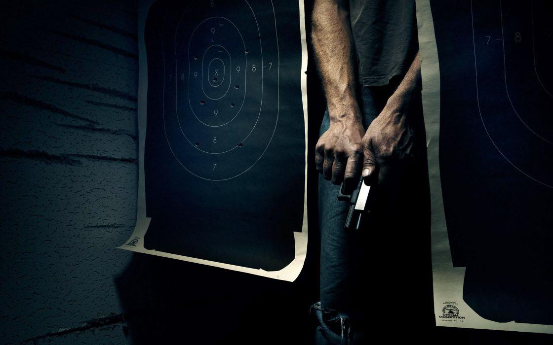 shooting military guns weapons men males dark people wallpaper