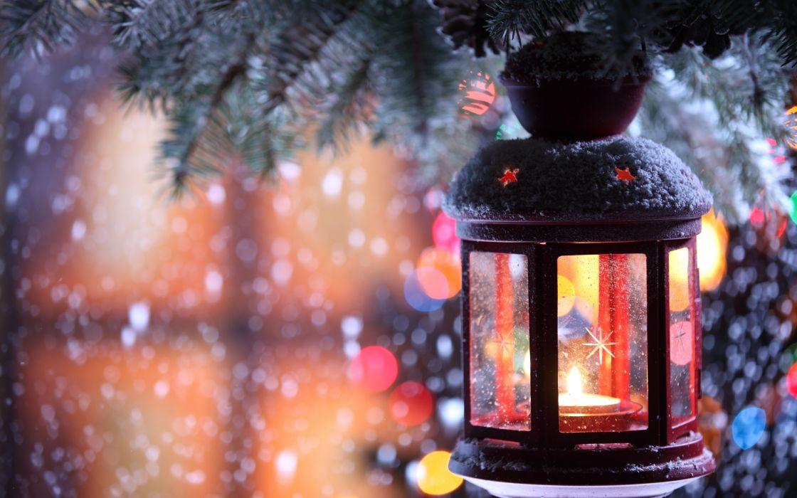 holidays christmas lights lamps festive seasonal wallpaper