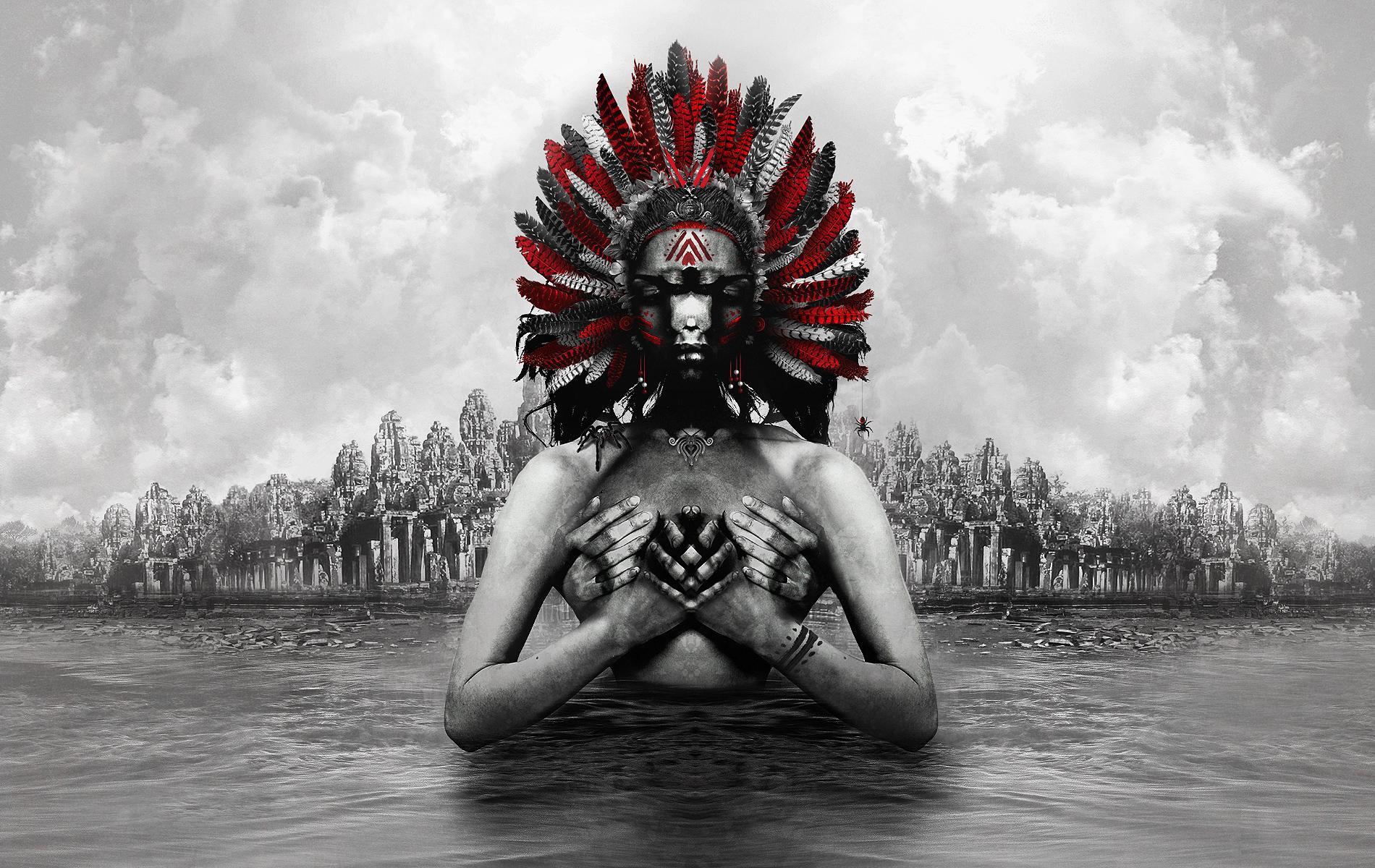 Aztec Warrior Art Wallpaper