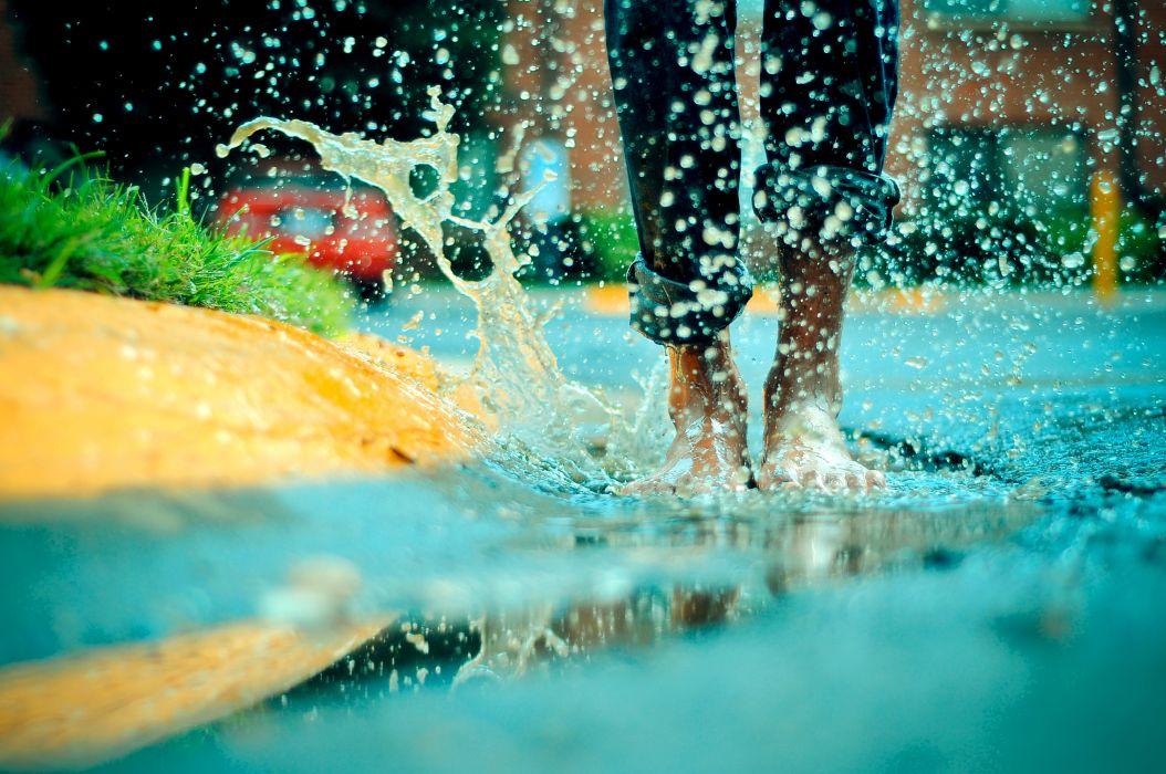 photography people water rain splash water-drops drops wallpaper