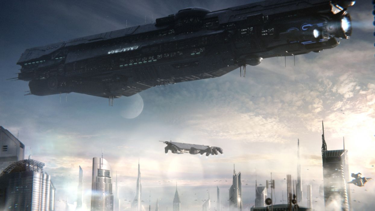 scifi ship wallpaper